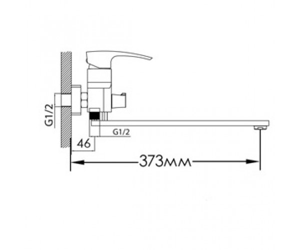 Смеситель для ванны MIXXEN ТОРНАДО MXAL0323