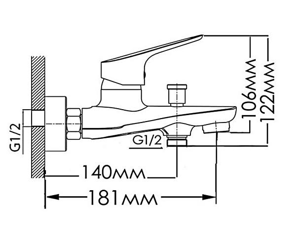 Смеситель для ванны MIXXEN БЛИС MXH1052