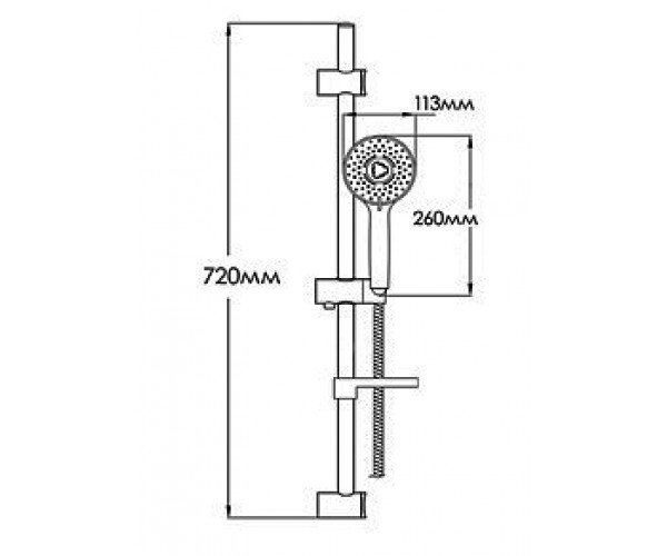 Душевой набор MIXXEN MXZ0044