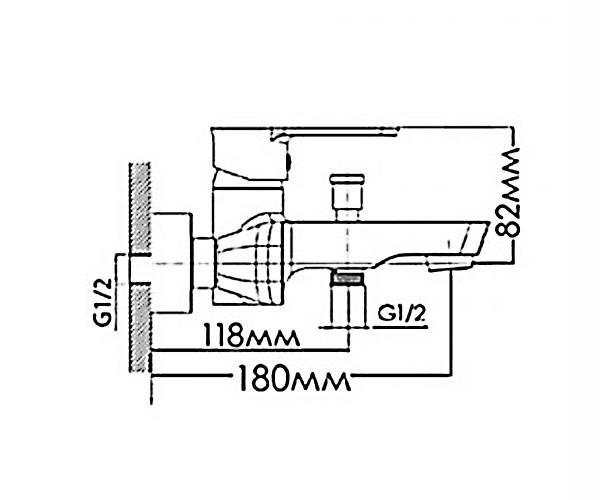 Смеситель для ванны MIXXEN ЛОТУС NNH1034
