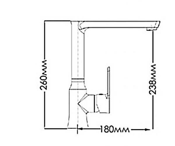 Кухонный смеситель MIXXEN ЛОТУС NNH1036