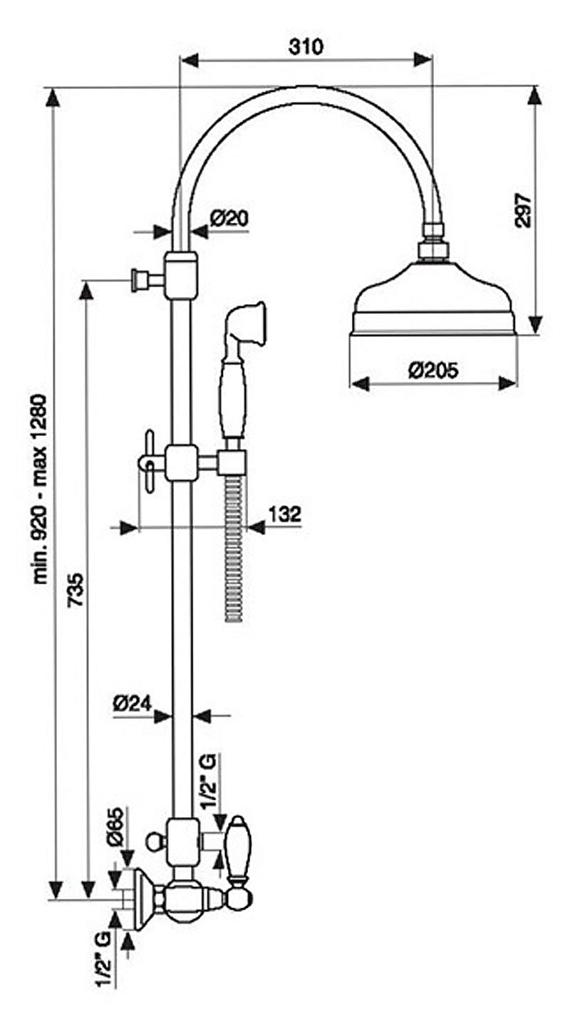 Душевая система Emmevi Deco Ceramic OR12100281