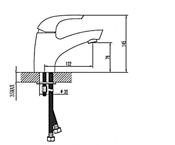 Смеситель для умывальника RUBINETA FORTE 540010