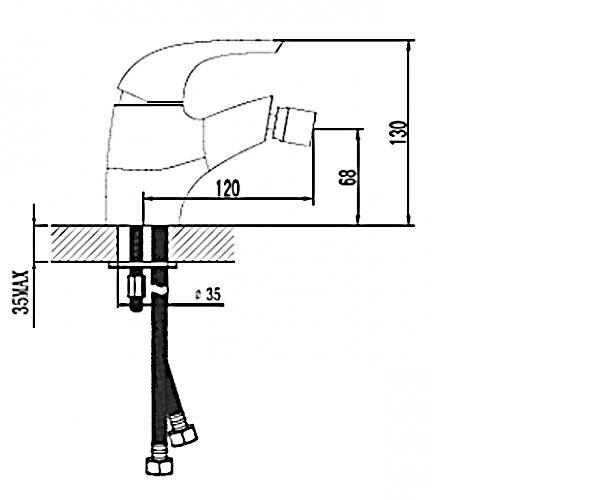 Смеситель для биде RUBINETA FORTE 540011