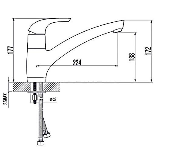 Кухонный смеситель RUBINETA FORTE 540012