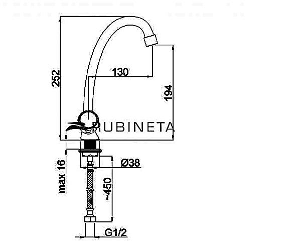 Кухонный смеситель RUBINETA TOSCANA M8J006
