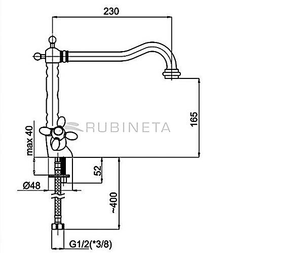 Кухонный смеситель RUBINETA TOSCANA M8L006