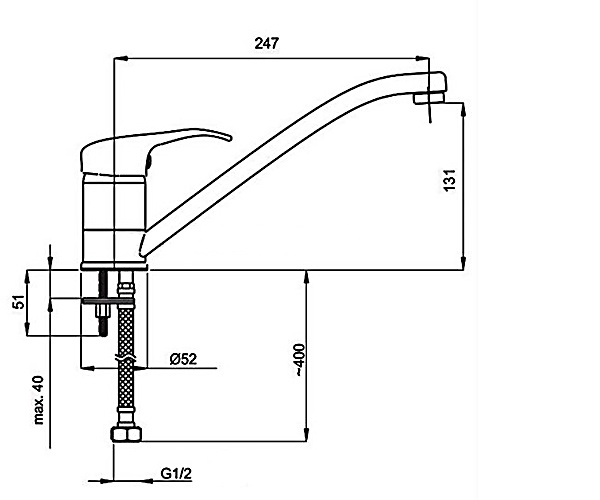 Кухонный смеситель RUBINETA STAR P00031