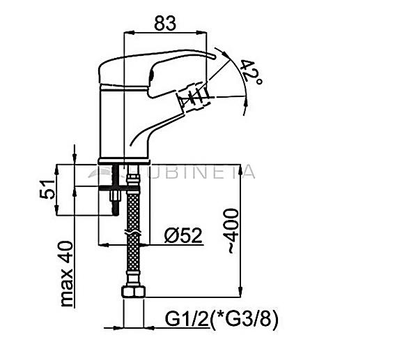 Смеситель для биде RUBINETA PRINCE P60001