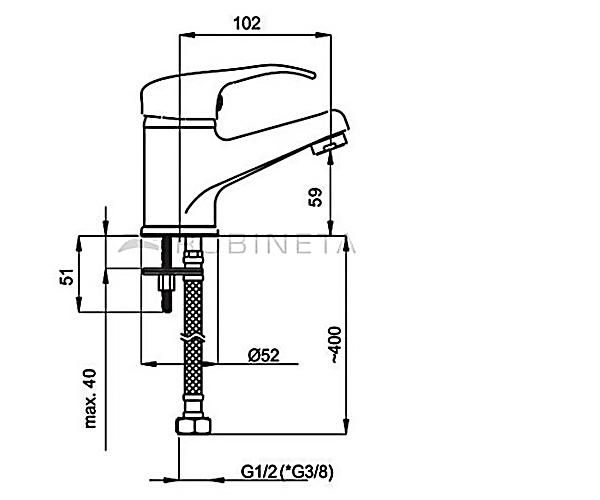 Смеситель для раковины RUBINETA PRINCE P80001