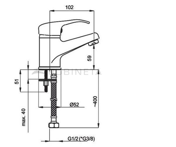 Смеситель для раковины RUBINETA PRINCE P80013