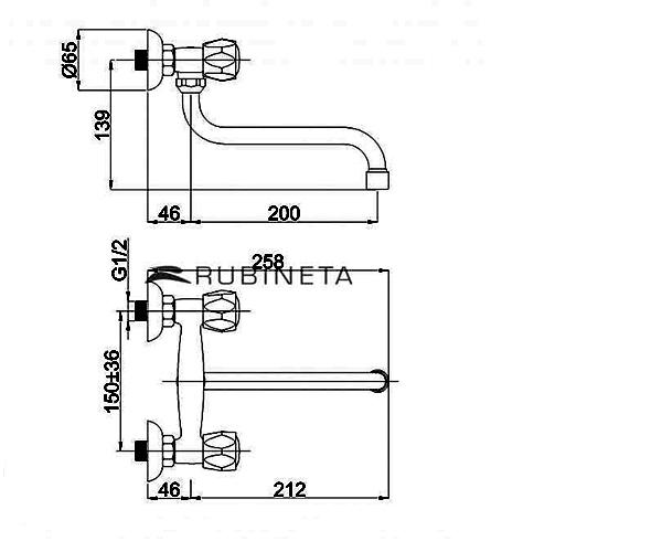 Смеситель для кухни RUBINETA GLOBO R43002
