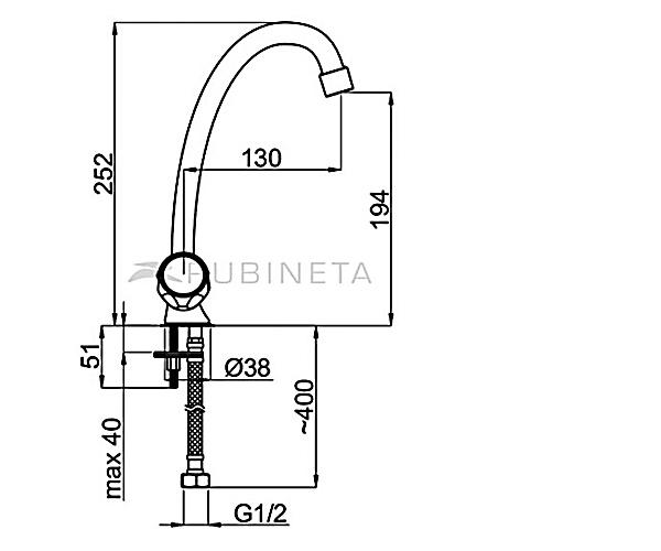 Кухонный смеситель RUBINETA GLOBO R8J002