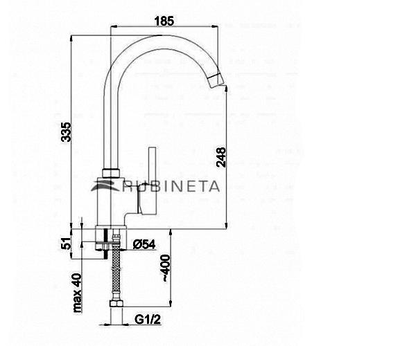 Кухонный смеситель RUBINETA ULTRA U30048