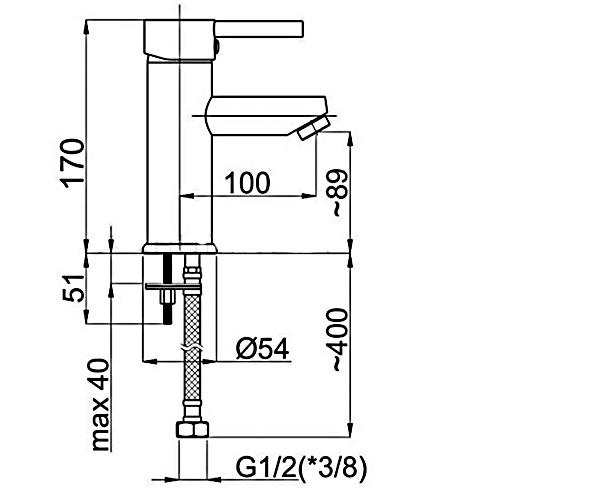 Смеситель для раковины RUBINETA ULTRA U80008