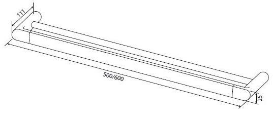 Двойная вешалка для полотенец AM.PM Inspire A50336400