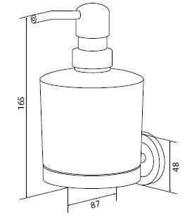 Стеклянный диспенсер для мыла AM.PM Serenity A4036900
