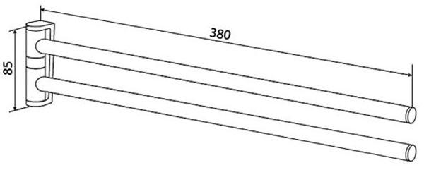 Двойная вешалка-вертушка для полотенец AM.PM Inspire A5032600
