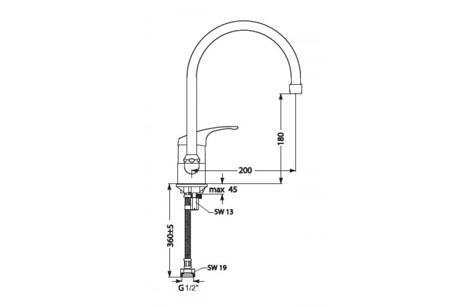 Смеситель для кухни VIDIMA Tarner B2669AA