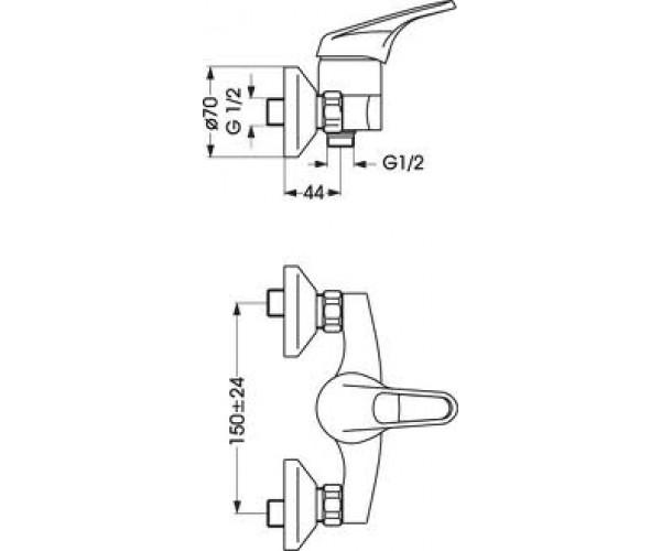 Смеситель для душа VIDIMA SEVA M B2656AA