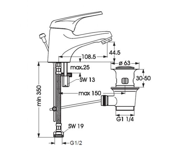 Смеситель для раковины VIDIMA SEVA M B2658AA
