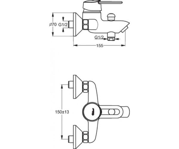 Смеситель для ванны VIDIMA SEVA M B7827AA