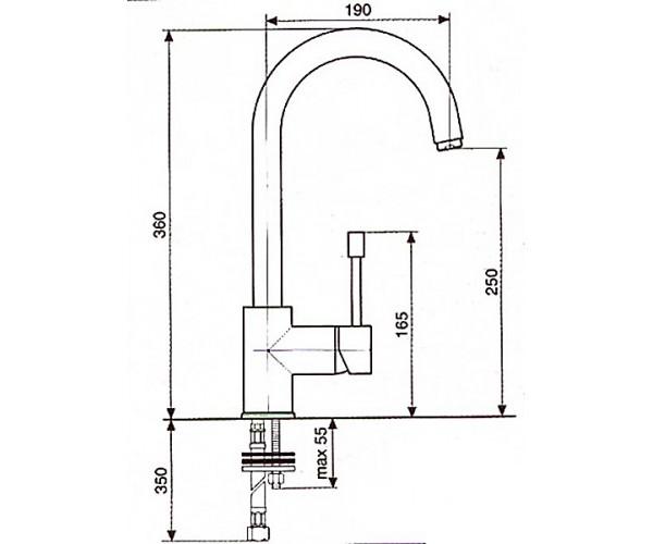 Смеситель для кухни EMMEVI EDEN SC71047