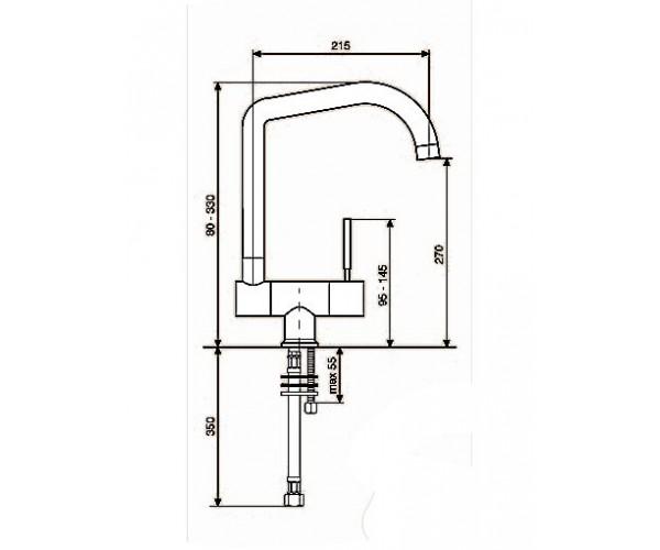 Смеситель для кухни EMMEVI EDEN CR71335