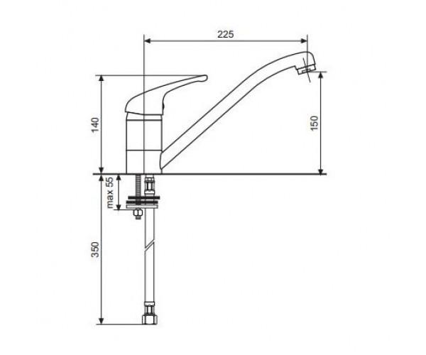 Смеситель для куxни EMMEVI AMBRA GRANIT VMAR 9007