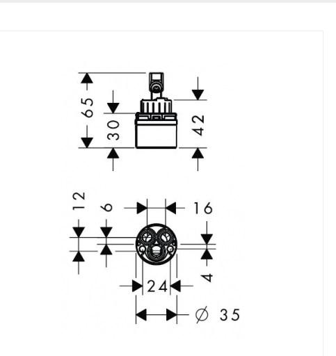 Керамический картридж HANSGROHE M3/M2 92730000