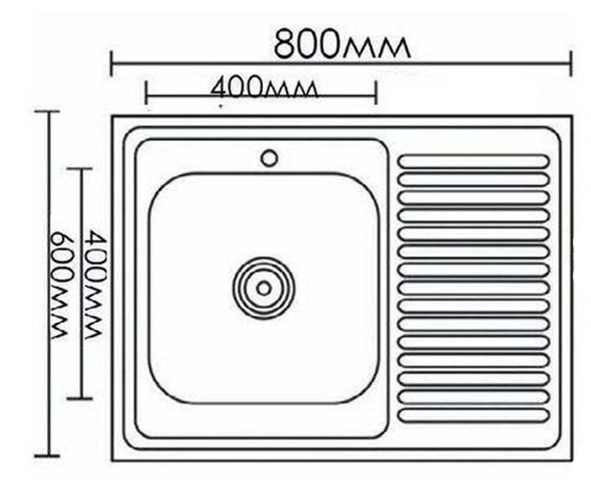 Мойка MIXXEN MX8060DK-R
