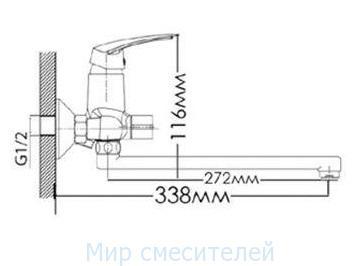Смеситель для ванной MIXXEN ГРАЦИЯ MXН1004NK