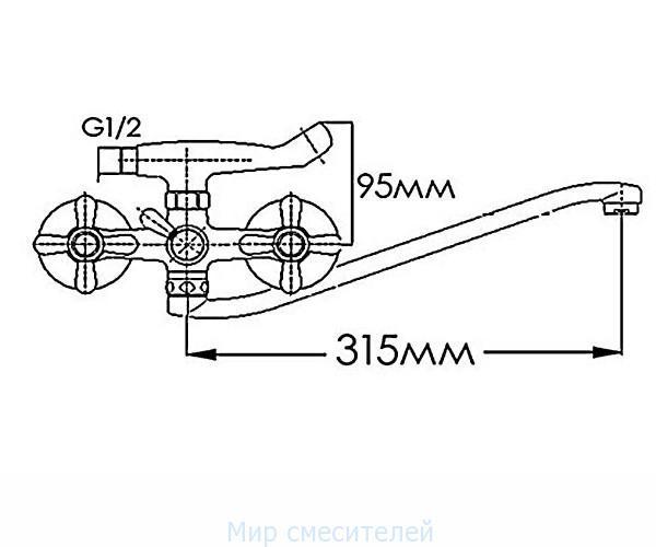 Смеситель для ванны MIXXEN МЕДЕЯ HB2041805C-35S