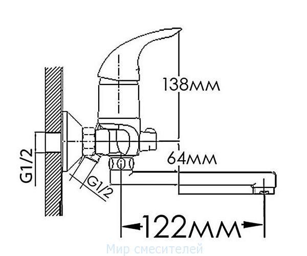 Смеситель для ванны MIXXEN ИРИДА HB5733240C-15F
