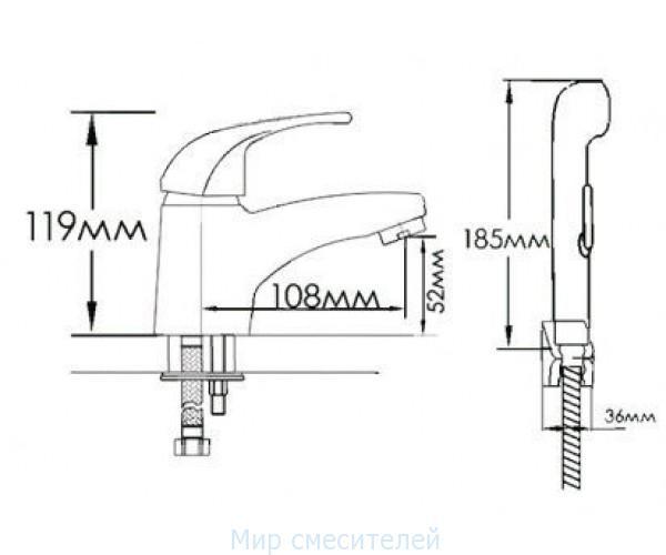 Смеситель для раковины MIXXEN Атриум MXB003