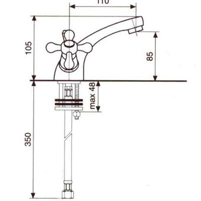 Смеситель для раковины EMMEVI DECO CLASSIC CR12013 PTC