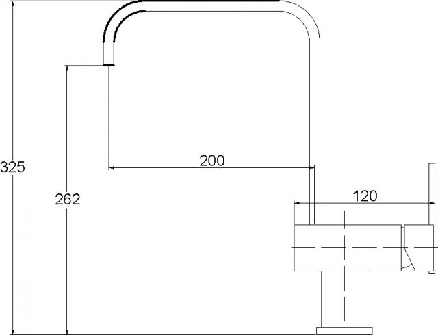 Смеситель для кухни AQUASanita хром 2033-001