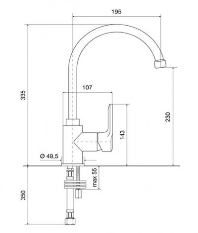 Кухонный смеситель EMMEVI NEFER BIO770077
