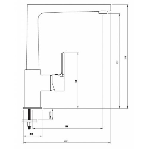 Кухонный смеситель DEANTE SAFFRON BDR 063M