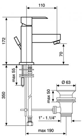 Смеситель для раковины EMMEVI SICILY CR38003