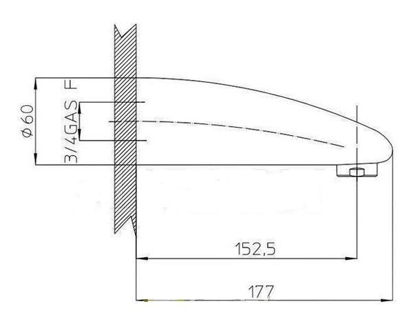 Наполнитель для ванны BOSSINI ATLANTIS хром E78000