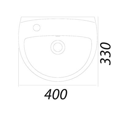 Умывальник Colombo Акцент 40 с отверстием слева (S12234000)