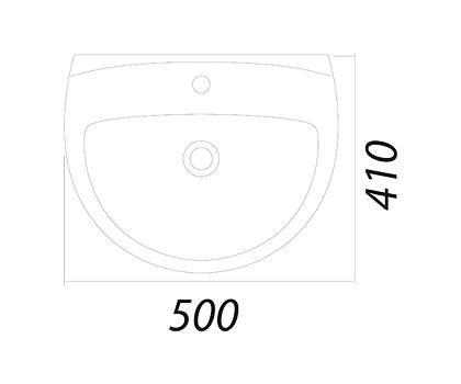 Умывальник Colombo Акцент 55 с отверстием (S12115500)
