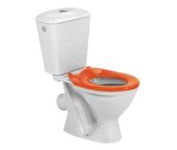 Комплект унитаз с бачком Colombo Бемби оранжевое сиденье (S10990091)