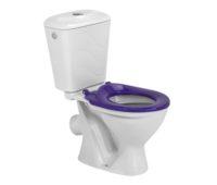 Комплект унитаз с бачком Colombo Бемби фиолетовое сиденье (S10990065)