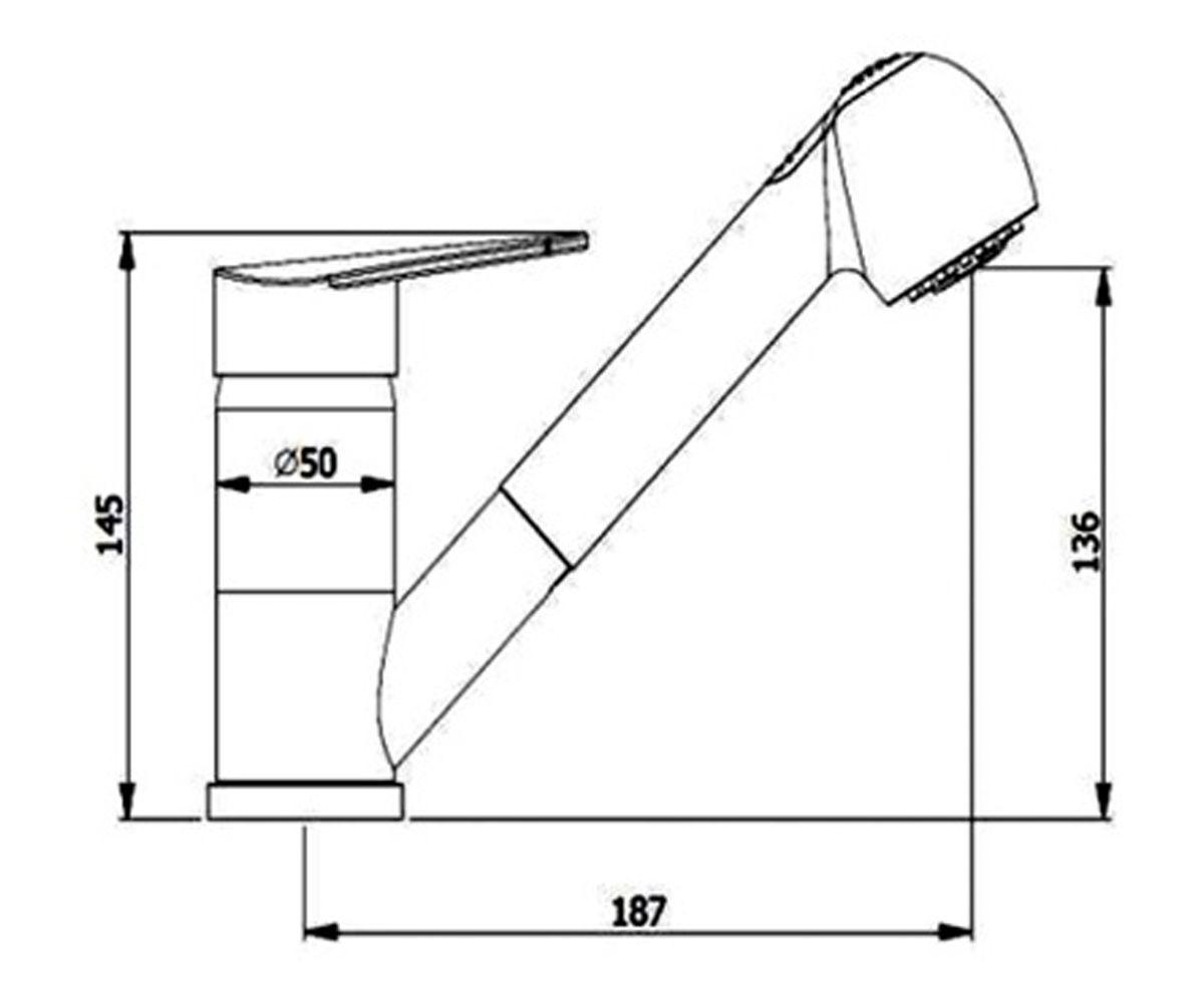 Кухонный смеситель AQUASanita RONDO алба 2581-710