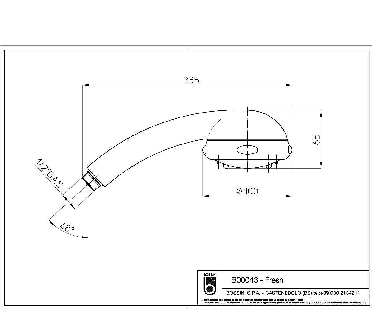 Душевая лейка BOSSINI Fresh B00043