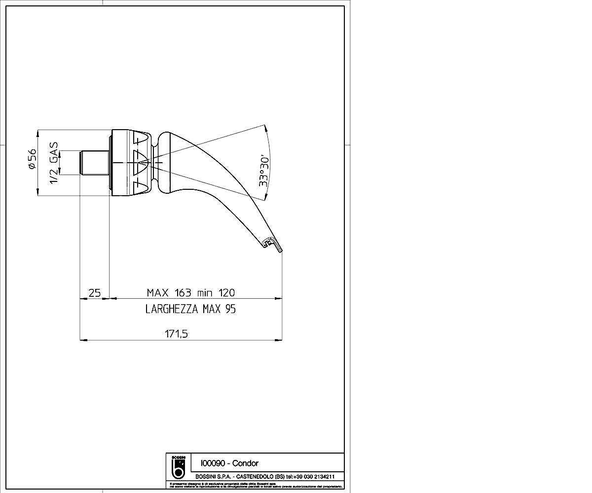 Ливневой душ BOSSINI Condor I00090