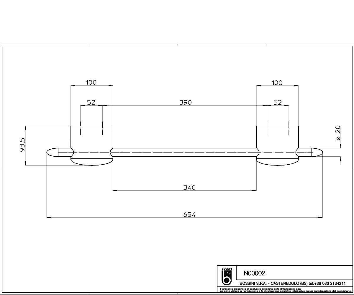 Вешалка для полотенец BOSSINI N00002