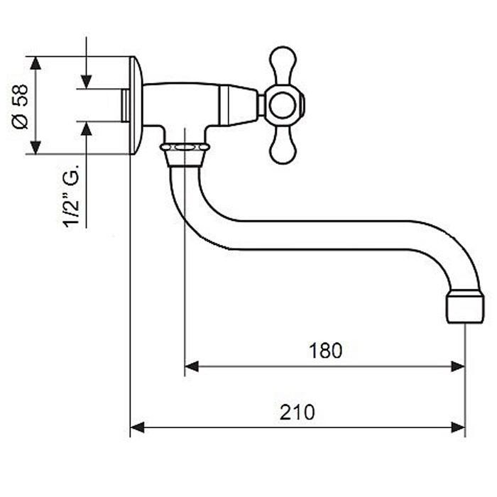Смеситель для кухни EMMEVI DECO CLASSIC BR12006S